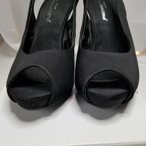 Lulu Townsend Shoes - LULU TOWNSEND - BLACK LT NIGHTOUT HEELS